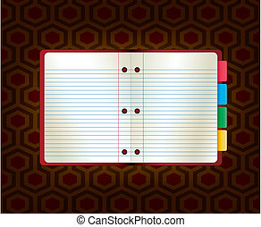 Vector illustration abstract paper notebook. Template for web site or blog.