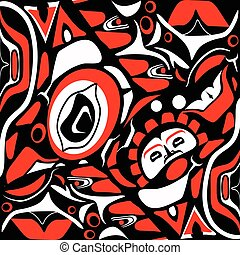 abstract red background native north american