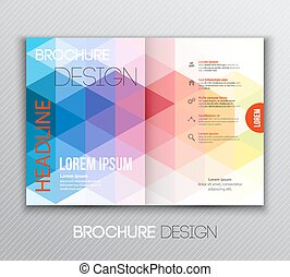 Abstract template brochure design with geometric background...
