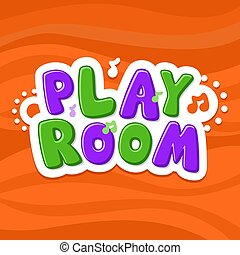 Vector illustration alphabet. Cartoon letters. Playroom kids.
