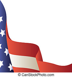 Vector illustration - American flag. Background - Vector...