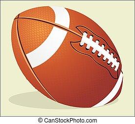 Vector illustration. American football ball.