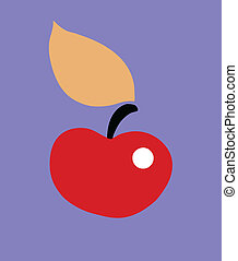 vector illustration apple