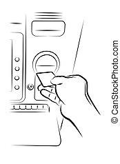 ATM - Vector illustration - ATM on a white background.