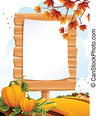 Autumn landscape - Vector illustration - Autumn landscape...