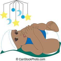 Vector Illustration Baby Sucking Toe 4.