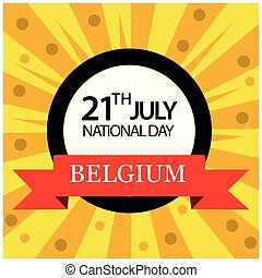 Vector illustration. background Belgium national holiday of...