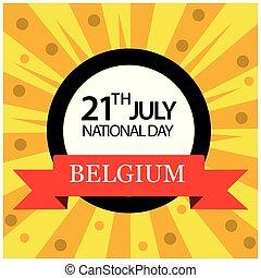 Vector illustration. background Belgium national holiday of...
