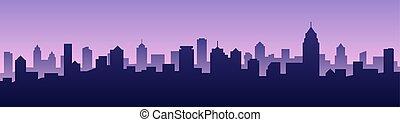 Vector illustration background city skyline silhouette cityscape