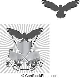 background eagle on shield with swo