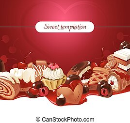 Vector illustration background of sweets