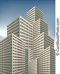 Vector illustration background - real estate investment , ...