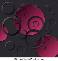 Vector illustration background with circles