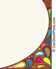 Vector illustration background with ornament