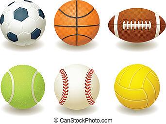 Balls - Vector illustration - Balls for team sports