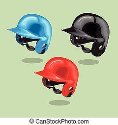 Vector illustration. Baseball helmet.