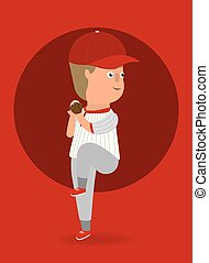 Vector illustration. Baseball player.