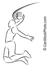 vector illustration  basket ball