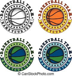 basketball logo set