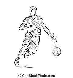 Basketball player - Vector illustration : Basketball player-...