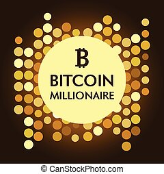 Vector illustration. Bitkoinovy millionaire.