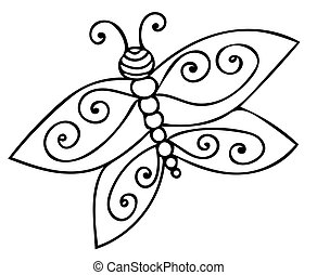 Butterfly coloring vector for adults. Butterfly coloring ...