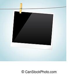 Photo Frame - Vector illustration blank photo frame. / Photo...