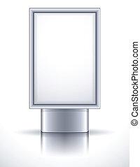 billboard - Vector illustration - blank steel billboard