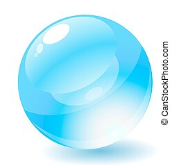 Vector illustration. Blue glossy circle web button.