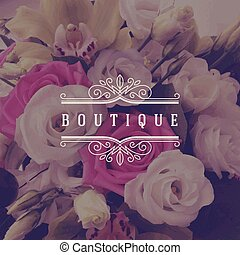 boutique logo template - Vector illustration - boutique logo...