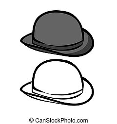 Bowler Hat - Vector illustration : Bowler Hat on a white...