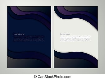 Vector illustration business background with waves