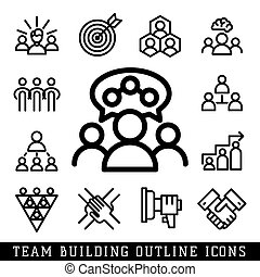Vector illustration business team building people concept...