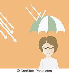 Vector illustration. Businessman ca