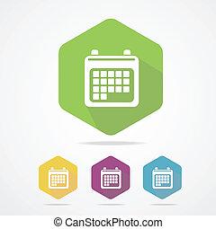 Vector illustration calendar organizer flat icon