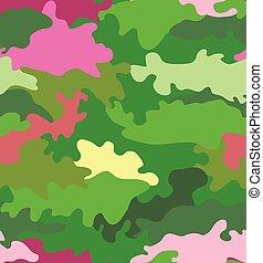 Vector illustration camouflage seamless pattern