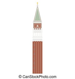 San Marco square - Vector illustration Campanile di San...
