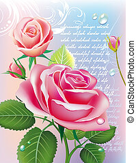 Vector illustration - card with roses