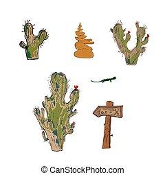 Vector illustration cartoon, A set of vector objects