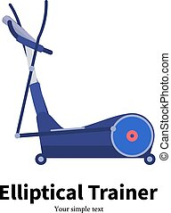 Vector illustration cartoon elliptical trainer