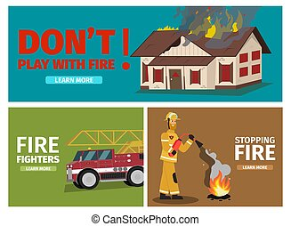Vector Illustration Cartoon Fire Extinguishing