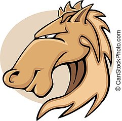 Illustration cartoon horse head