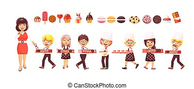 Vector illustration cartoon isolated characters children