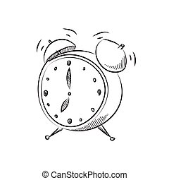 vector illustration cartoon style alarm clock illustration