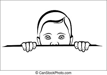 Child looking surprised - Vector illustration : Child...