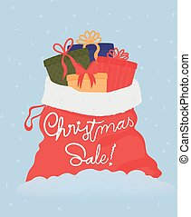 Vector Illustration. Christmas sale.