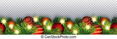Christmas seamless garland