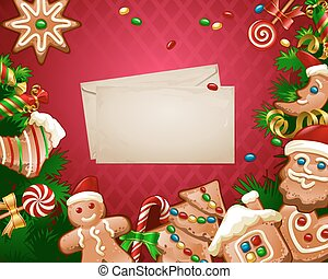 Vector illustration Christmas sweet background