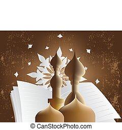 Vector illustration - Golden Arabic Calligraphy, hand...