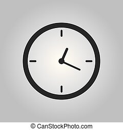 Vector illustration - Clock time icon Eps 10
